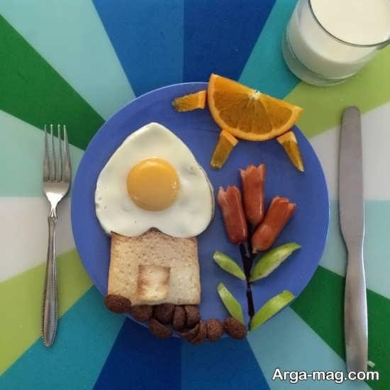 تزیین صبحانه کودک به شکل خاص