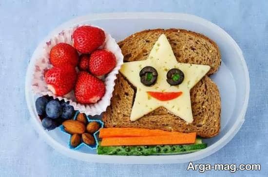 یک ایده خلاقانه تزیین صبحانه