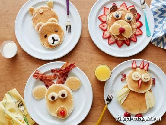تزیین صبحانه کودک فوق العاده زیبا