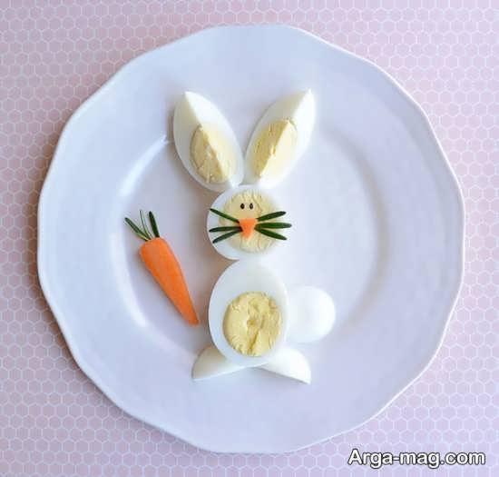 تزیین صبحانه به خرگوش