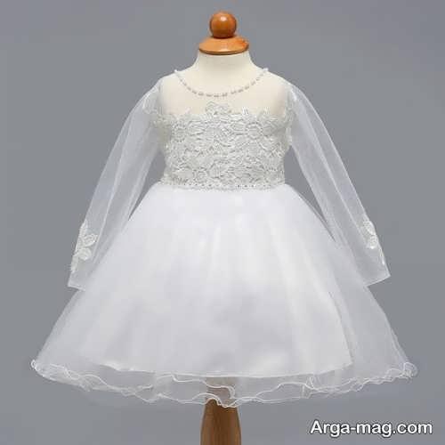 لباس عروس آستین دار کودک