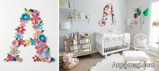 تزیینات دیوار اتاق نوزاد