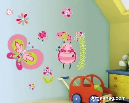 دیزاین برای دیوار اتاق نوزاد