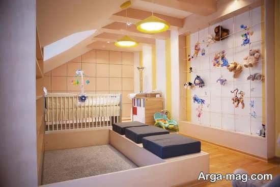 دیزاین لوکس دیوار اتاق نوزاد