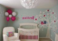 تزیین دیوار اتاق نوزاد