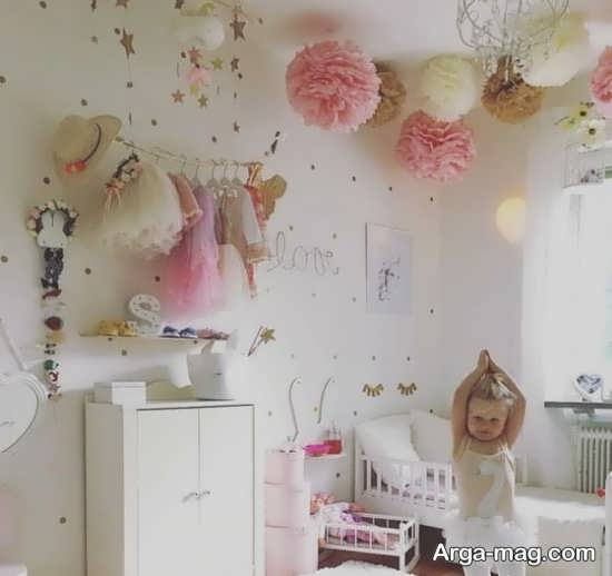 دیزاین شیک دیوار اتاق نوزاد