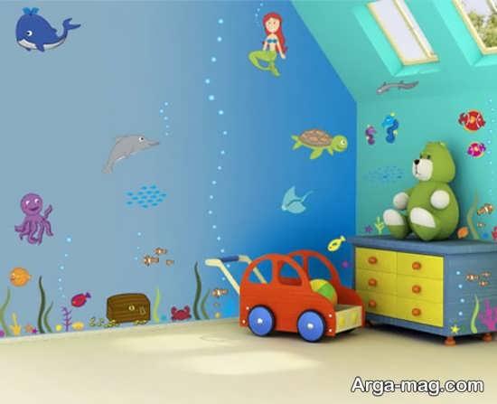 دیزاین دیوار اتاق نوزاد