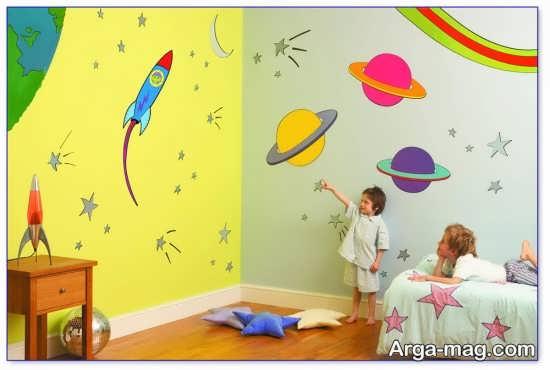 تزیین دیوار اتاق بچه