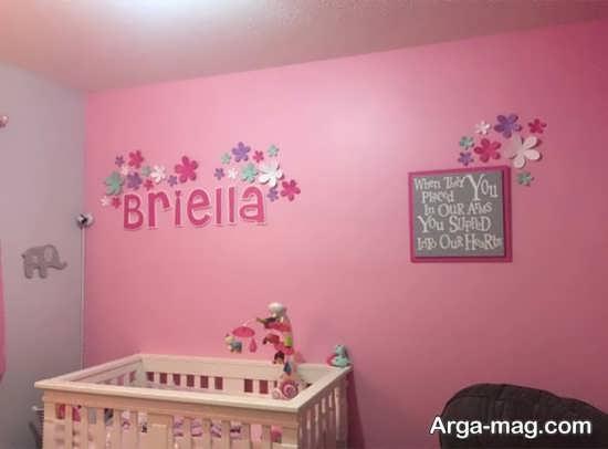 تزئین دیدنی دیوار اتاق نوزاد