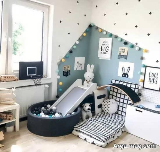 تزئین شیک دیوار اتاق نوزاد