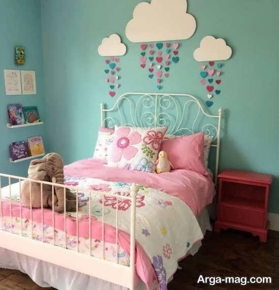 تزئین جذاب دیوار اتاق نوزاد