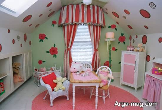 دکوراسیون جدید دیوار اتاق نوزاد