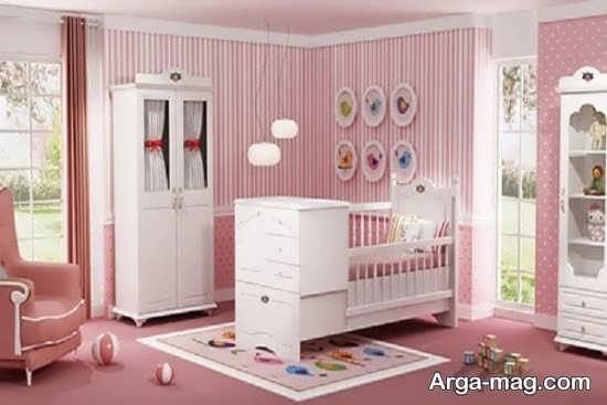 طراحی دیوار اتاق نوزاد