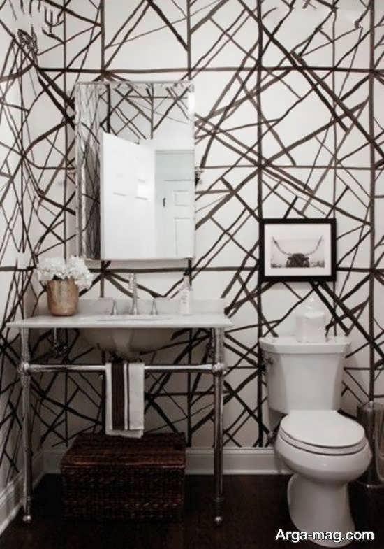 ایده های زیبا و متنوع کاغذ دیواری سرویس بهداشتی