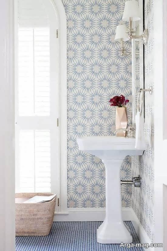 انواع کاغذ دیواری سرویس بهداشتی زیبا و متنوع