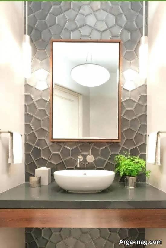 کاغذ دیواری خوش رنگ و با دوام برای حمام و دستشویی