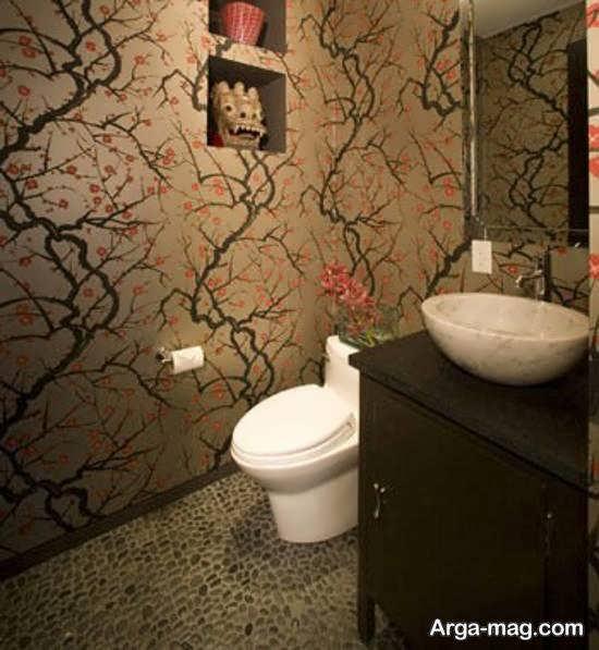 مجموعه زیبا و شیک کاغذ دیواری اتاق خدمات بهداشتی