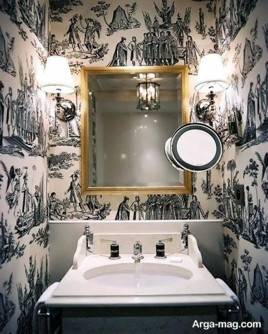 ایده هایی شیک و ناب از کاغذ دیواری برای دیزاین دستشویی و حمام