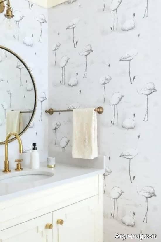 ایده های متنوع و متفاوت کاغذ دیواری سرویس بهداشتی