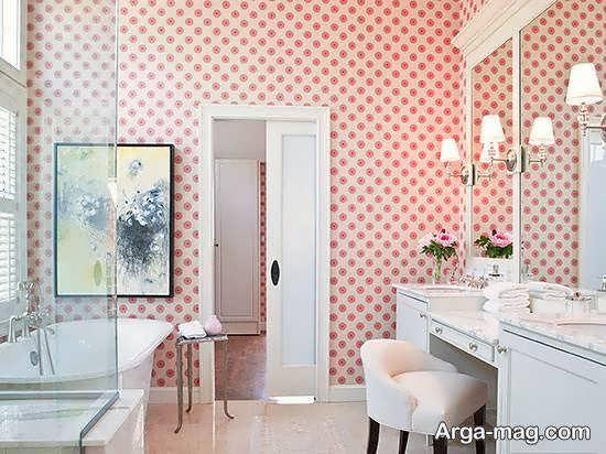 انواع کاغذ دیواری سرویس بهداشتی زیبا و جذاب
