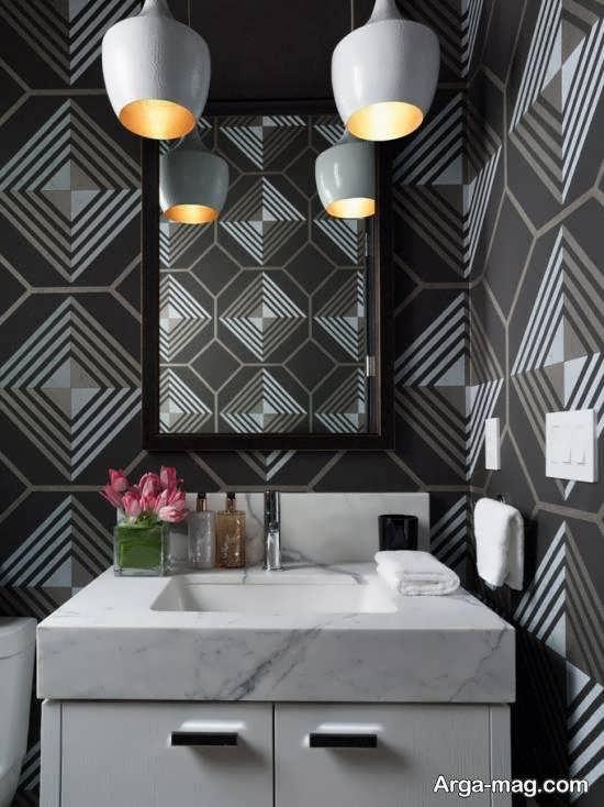ایده هایی زیبا و متنوع از کاغذ دیواری حمام و دستشویی