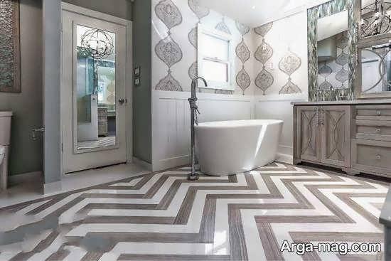 گالری متنوع کاغذ دیواری حمام و دستشویی زیبا