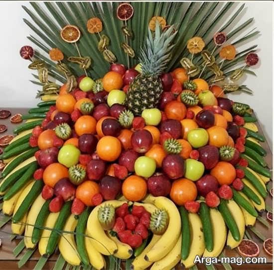 خلاقیت در تزئین میوه تولد
