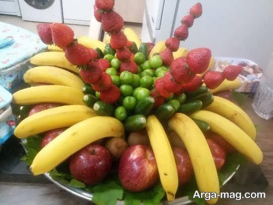 میوه آرایی ساده تولد
