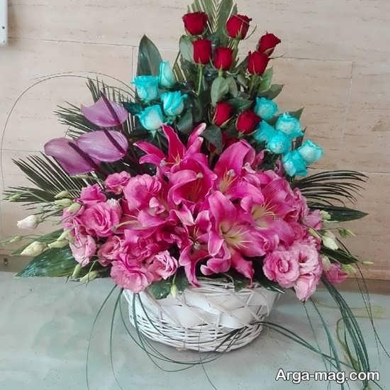 عکس سبد گل زیبا و شکیل
