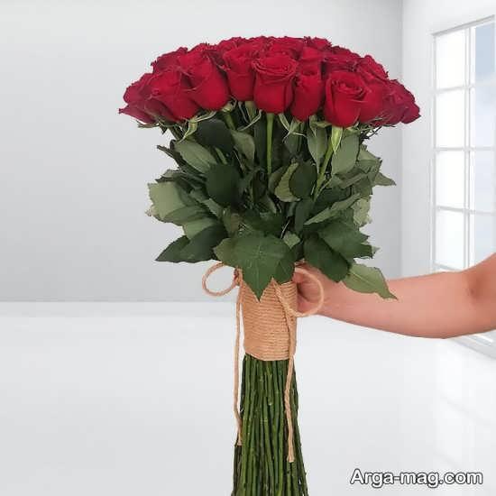 گل پچپیده شده زیبا برای تولد