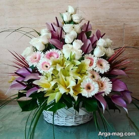 تزییین سبد گل برای تولد