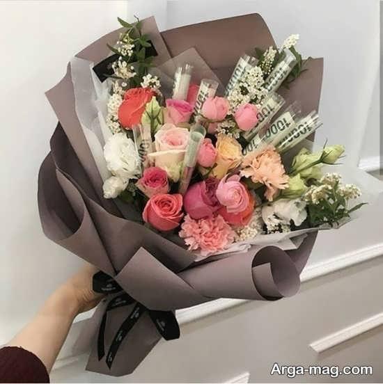 گل تزیین شده زیبا برای تولد
