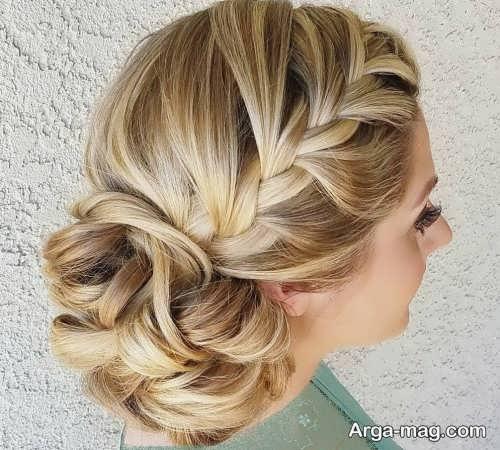 آرایش مو بسته و زیبا برای عروس