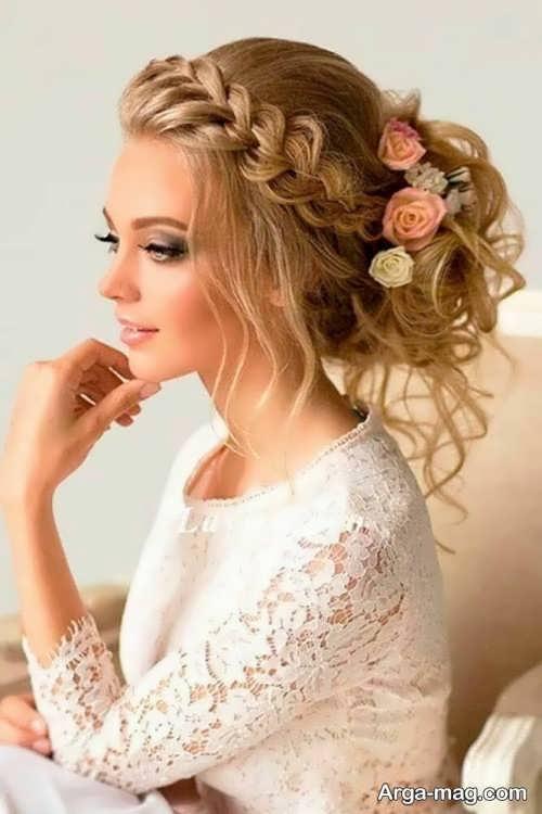بافت موی زیبا عروس