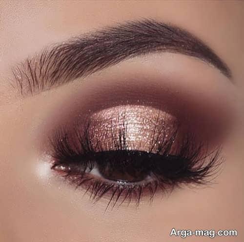 آرایش چشم قهوه ای و زیبا