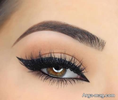 مدل آرایش چشم قهوه ای و زیبا