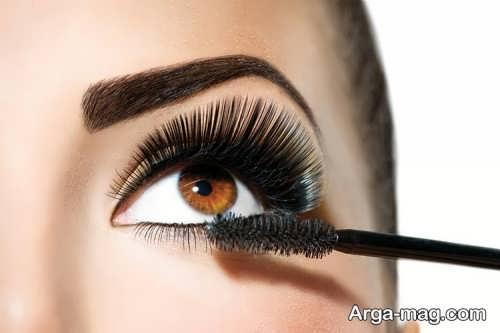 مدل آرایش چشم قهوه ای