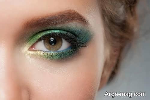 آرایش چشم قهوه ای زنانه