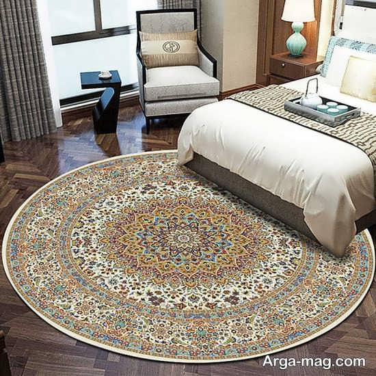 فرش گرد برای اتاق خواب