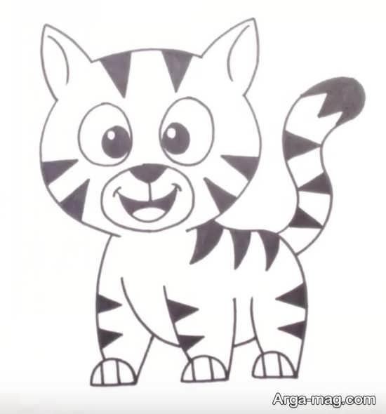 نقاشی گربه