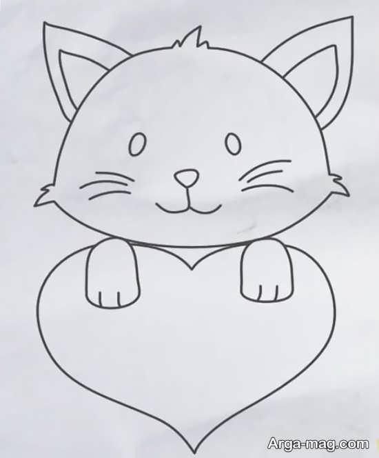 جالب ترین نقاشی به شکل گربه