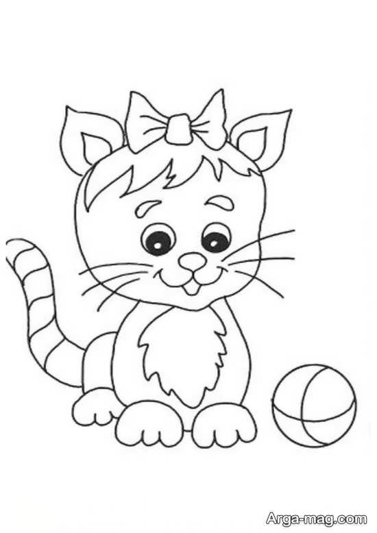 مدل های دوست داشتنی نقاشی به شکل گربه