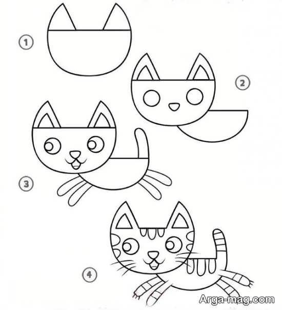 نقاشی خاص گربه