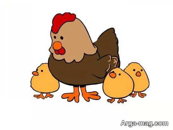 کشیدن مرغ با طرح های دوست داشتنی
