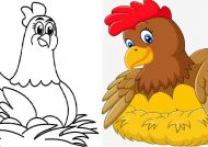 انواع نقاشی مرغ