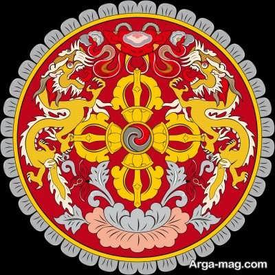 اؤهایی که روی پرچم بوتان است