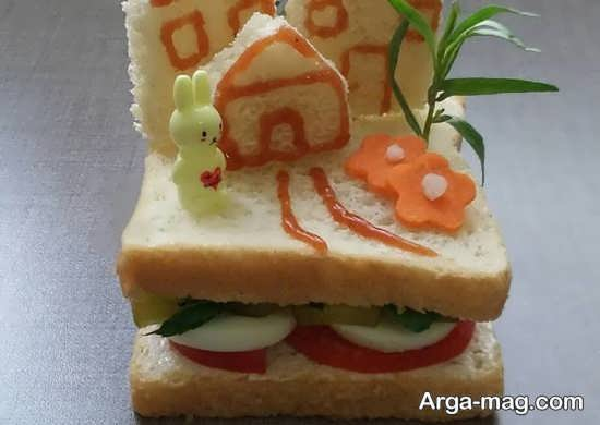 دیزاین و تزئینات انواع ساندویچ