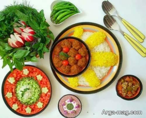 تزئین غذا با روش های جالب