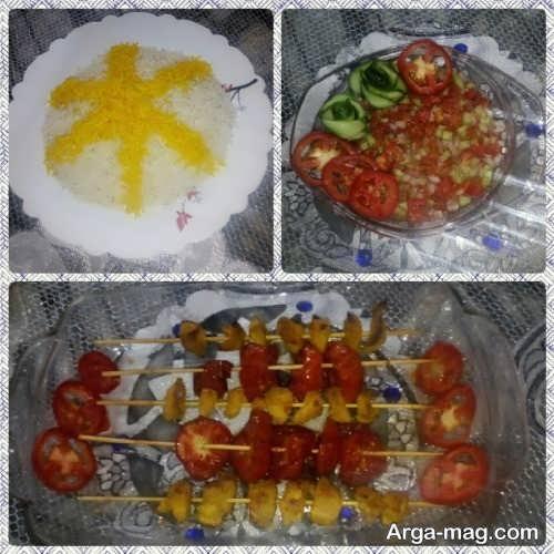 تزئین غذا دو نفره