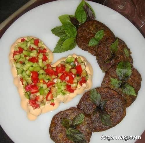 تزیین زیبا غذا